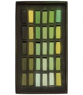 Пастель Terry Ludwig Soft Pastels - Warm Greens (30 штук)