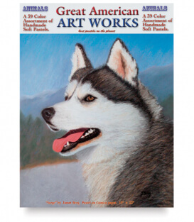 Пастель Great American Art Works Animals (39 штук)