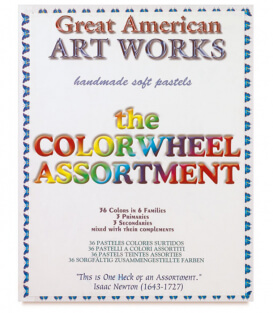 Пастель Great American Art Works Color Wheel (39 штук)