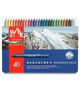 Акварельная пастель Caran d'Ache Neocolor II Watersoluble (40 цветов)