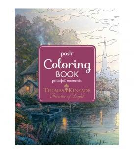 Раскраска Posh Coloring Books Peaceful Moments от Thomas Kinkade Studios