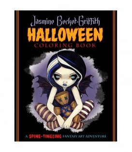 Раскраска Jasmine Becket-Griffith Halloween Coloring Book: A Spine-Tingling Fantasy Art Adventure