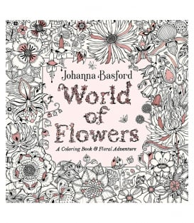 Раскраска World of Flowers от Johanna Basford (изд. Penguin Books США)