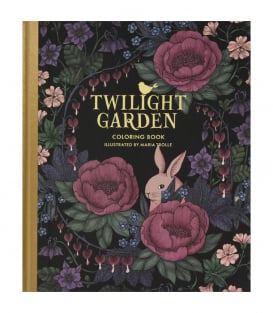 Раскраска Twilight Garden Coloring Book от Maria Trolle (изд. Gibbs Smith США)