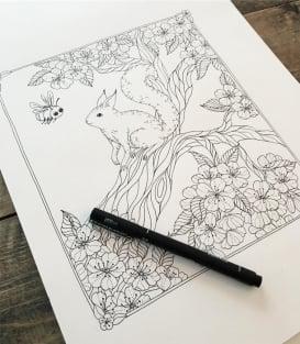 Раскраска Botanicum от Maria Trolle (изд. BBNC Uitgevers Нидерланды)