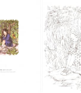 Раскраска Forest Girl's Coloring Book Vol.1