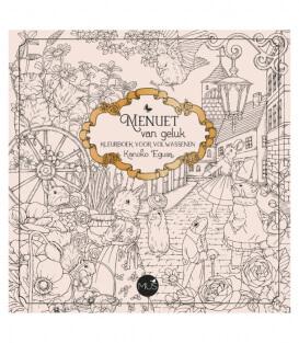 Раскраска Menuet van geluk от Kanoko Egusa (изд. BBNC Uitgevers Нидерланды)
