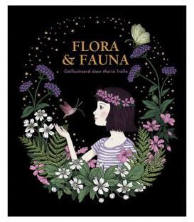Раскраска Flora & Fauna от Maria Trolle (изд. BBNC Uitgevers Нидерланды)