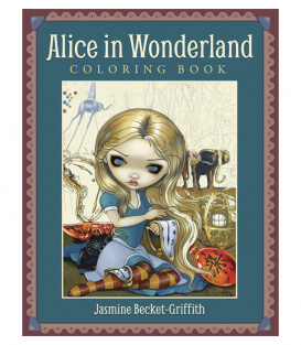 Раскраска Alice in Wonderland от Jasmine Becket-Griffith (изд. Llewellyn Publications США)
