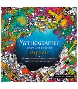Раскраска Mythographic Color and Discover: Aquatic от Joseph Catimbang (изд. Castle Point Books США)