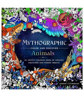 Раскраска Mythographic Color and Discover: Animals от Joseph Catimbang (изд. Castle Point Books США)