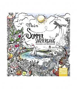 Раскраска Mein Sommerspaziergang: Ausmalen und durchatmen от Rita Berman (изд. Lübbe Германия)
