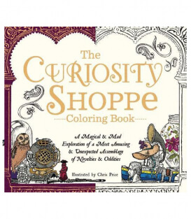 Раскраска The Curiosity Shoppe Coloring Book от Chris Price (изд. Adams Media Corporation США)