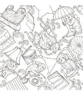 Раскраска Symphony of Cute Animals от Kanoko Egusa (изд. ナツメ社 Япония)