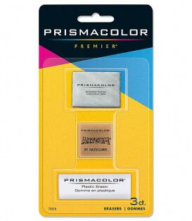 Набор ластиков Prismacolor Premier Kneaded, ArtGum и Plastic Erasers