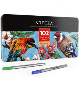 Набор линеров ARTEZA Fineliners Fine Point Pens (102 штуки)