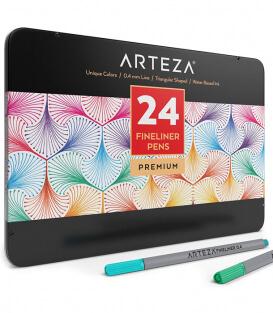 Набор линеров ARTEZA Fineliners Fine Point Pens (24 штуки)