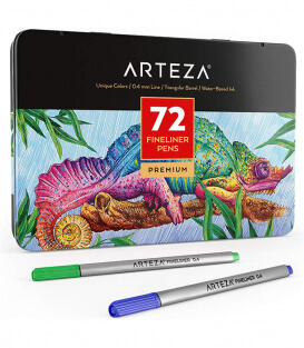 Набор линеров ARTEZA Fineliners Fine Point Pens (72 штуки)
