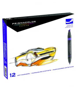 Маркеры Prismacolor Premier Double-Ended Art Markers, Fine and Chisel Tip (12 штук)