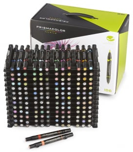 Маркеры Prismacolor Premier Double-Ended Art Markers, Fine and Brush Tip (156 штук)