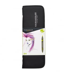 Маркеры Prismacolor Premier Double-Ended Art Markers, Fine and Brush Tip (24 штуки)