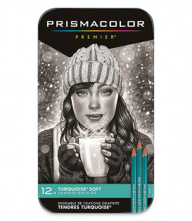 Набор графитовых карандашей Prismacolor Premier Turquoise Art Pencils (12 штук)